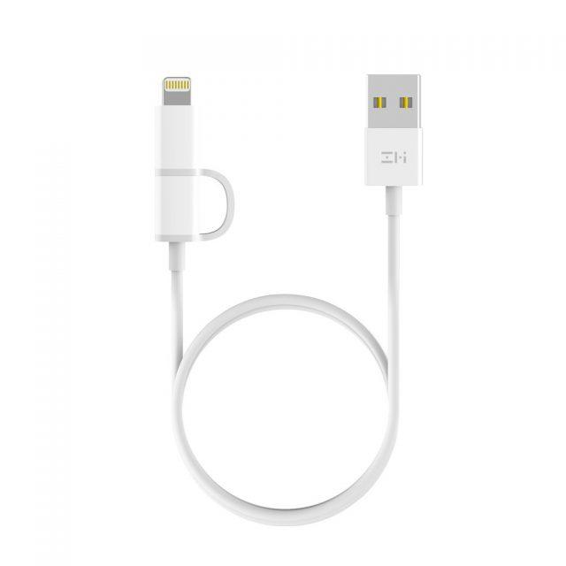 کابل دو سر Lightening و میکرو USB شیائومی Zmi